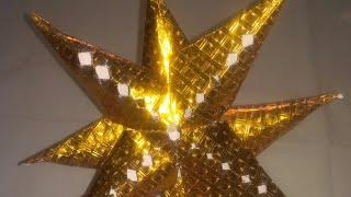 How to make easy Christmas 3D star craft idea for school kids|winter activity|monikaarttutorial