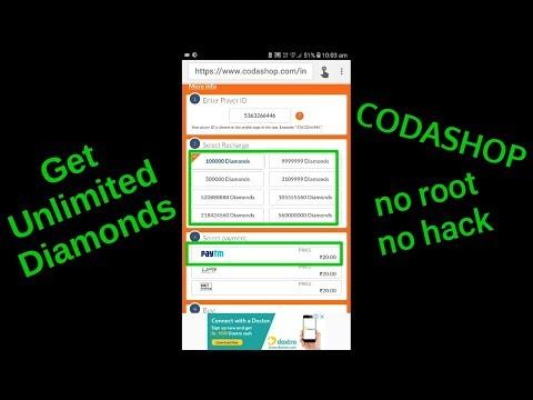 Get Unlimited Diamonds - CODASHOP   No Hack No Root