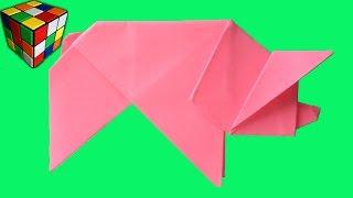 Оригами Свинка. Как сделать свинку из бумаги своими руками. Поделки из бумаги.(Учимся рукоделию! Как сделать свинку из бумаги! Бумажная свинка оригами своими руками! Всё поэтапно и досту..., 2016-05-18T17:00:03.000Z)