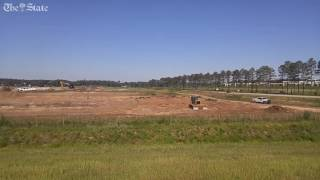Land being cleared by SCANA in Cayce