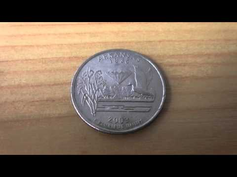 Arkansas 1836 - Quartar Dollar coin of the USA from 2003