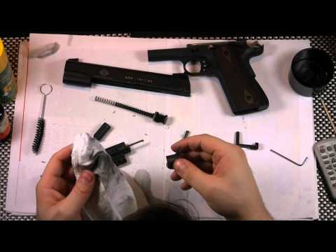 How to field strip a gsg 1911 and lube it