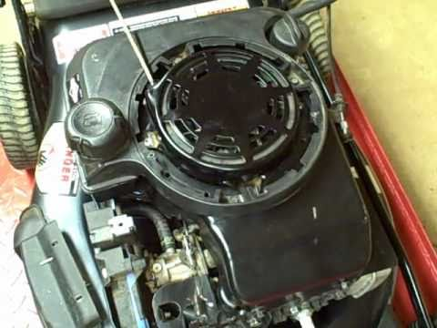How to replace a sheared flywheel key on a Briggs & Stratton walk ...