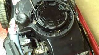 How to replace a sheared flywheel key on a Briggs & Stratton walk behind lawn mower