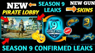 PUBG Mobile New Pirate Leaks + Season 9 New Leaks  Season 9 Parachute Skin+ Gun+ Bag Pack Skins