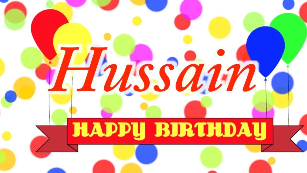 Birthday Cake With Name Hassan ~ Happy birthday hussain song youtube