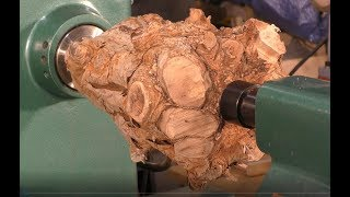 The $53,000 *Crown* of the root of all evil !!! Wood-turning