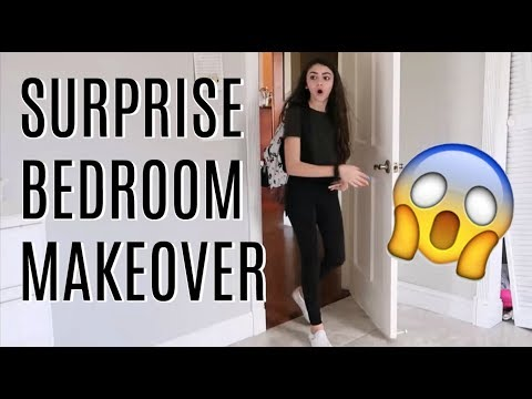 SURPRISE BEDROOM MAKEOVER // SHOP WITH ME FOR DECOR // DAY IN THE  LIFE
