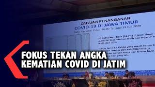Khofifah Fokus Tekan Angka Kematian Covid-19 di Jawa Timur