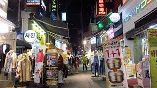 shopping and night life around ewha womans university seoul south korea