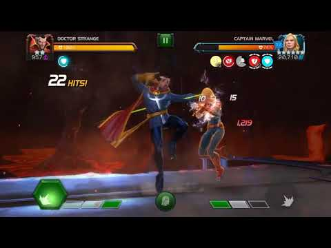 2* Doctor Strange vs UC Captain Marvel- Marvel Contest of Champions