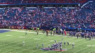 Micah Hyde INT and end of game Celebration Bills vs Jets 10SEP2017