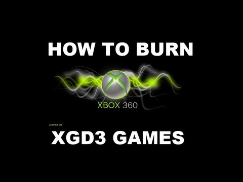 how to burn xgd3 games with any drive