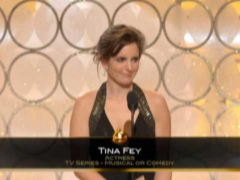 Tina Fey Wins Best Actress TV Series Musical Or Comedy - Golden Globes 2009