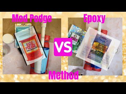 Glitter a tumbler tutorial: MOD PODGE & EPOXY METHOD