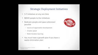 Workforce Development and the Strategic Deployment Process