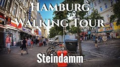 Steindamm 4K 60 UHD - Hamburg Walking Tour