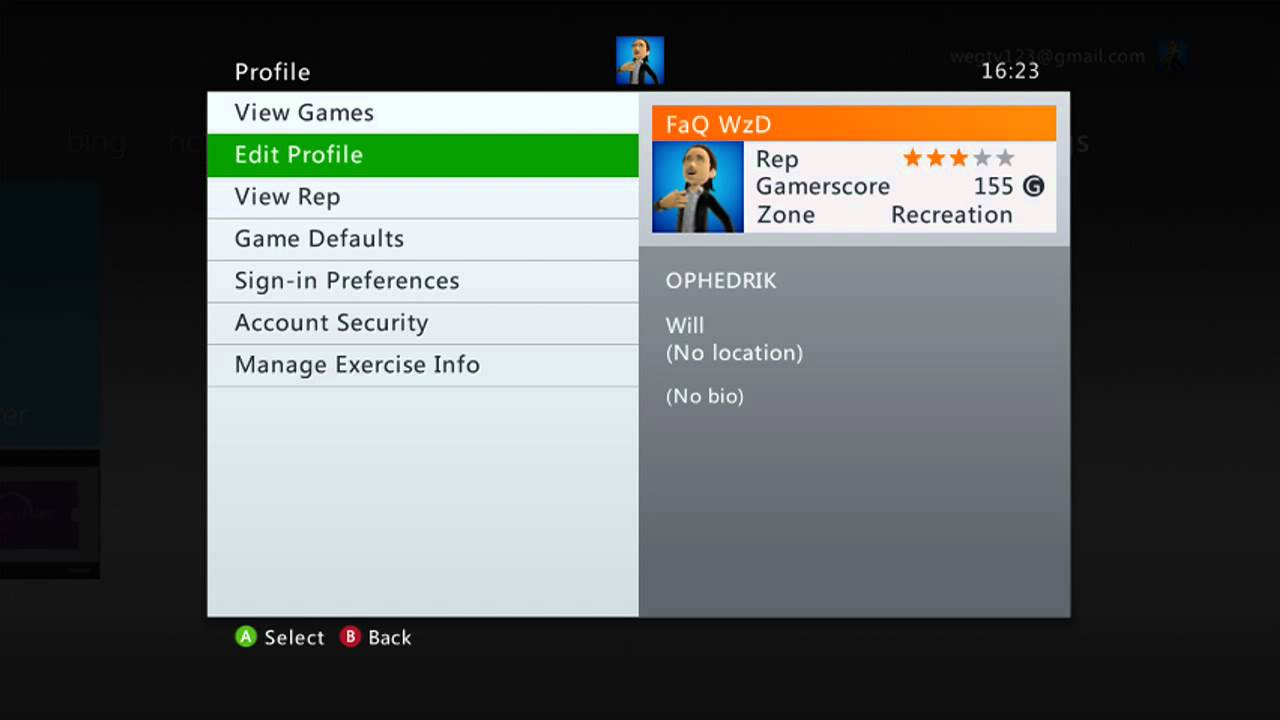 Xbox 360 How To Change Your Gamer Profile Name And Motto Etc Youtube