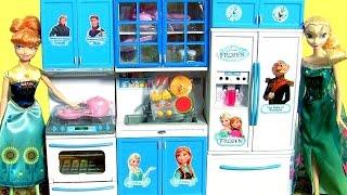 Video Disney Frozen Luxury Kitchen Toy Set Play Doh Surprise Princess Anna & Elsa Cooking with Barbie download MP3, 3GP, MP4, WEBM, AVI, FLV Maret 2018