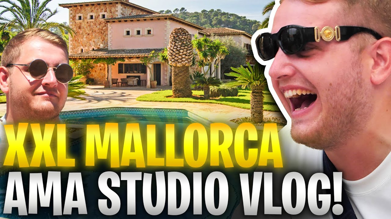 😎😨MEGA YACHT & VILLA ROOMTOUR?! | BEHIND the SCENES auf MALLORCA! | AMA Studios Summer DROP!