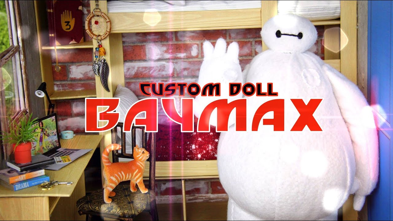 DIY   How To Make: Custom Baymax Doll   BIG HERO SIX   Handmade   Doll    Crafts   YouTube Part 63