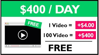 Earn $400+ Watching Videos ($4.00 Per Video) FREE Make Money Online