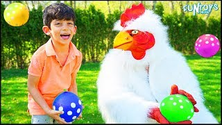 Playing with a Funny Chicken