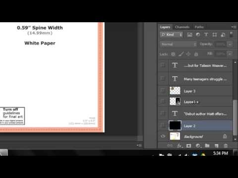 Using CreateSpace Cover Templates