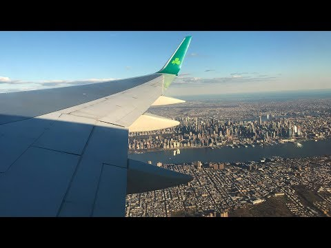 Breathtaking View of NYC! Aer Lingus Boeing 757-200 Takeoff from Newark Liberty Int'l Airport (EWR)