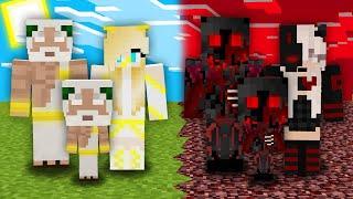 СЕМЬЯ БОГА ПРОТИВ СЕМЬИ ДЕМОНА В МАЙНКРАФТ 100% Троллинг Ловушка Minecraft