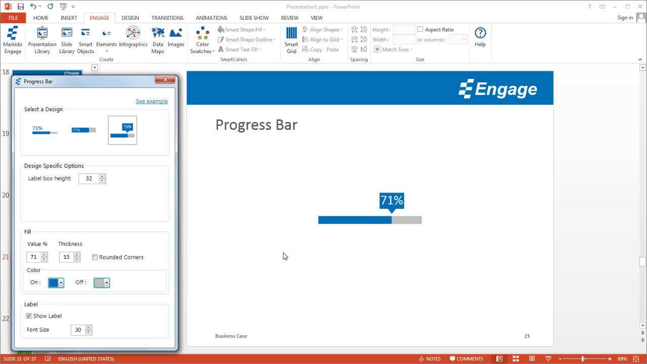 create a progress bar using the engage powerpoint add-in - youtube, Presentation templates