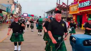 Wildwood NJ Boardwalk-Irish marching band!!