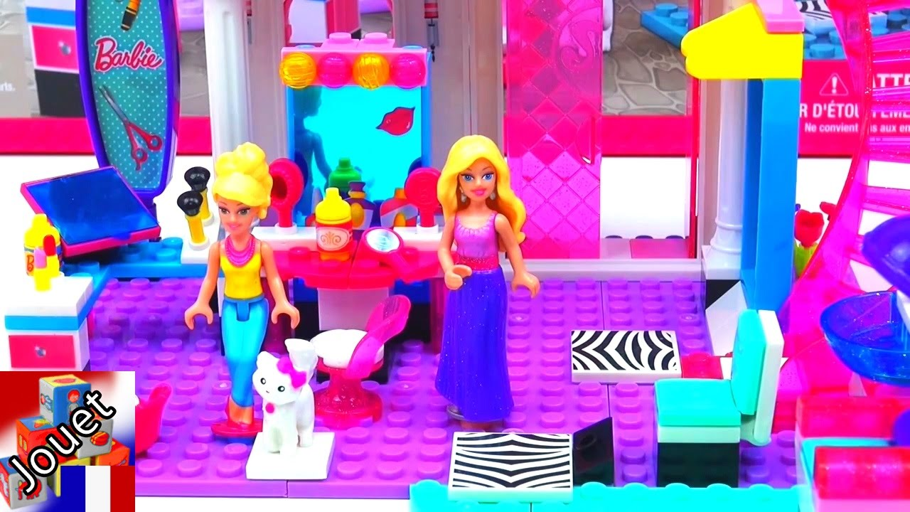 D mo salon de coiffure barbie mega bloks beautysalon de for Salon de coiffure barbie