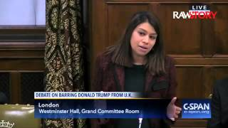 British MP Tulip Siddiq  urges ban on Donald Trump