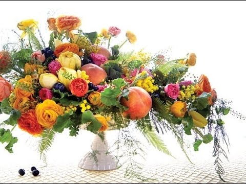 Fresh Fruit And Vegetable Centerpiece
