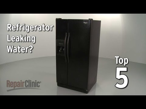 Refrigerator Leaking Water — Refrigerator Troubleshooting - YouTube