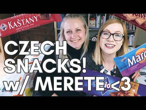 CZECH CHOCOLATE TIME WITH MERETE!   International friends try Czech candy!