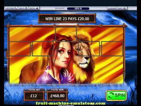 The Guardians online slot game - Double Bonus feature high stakes..