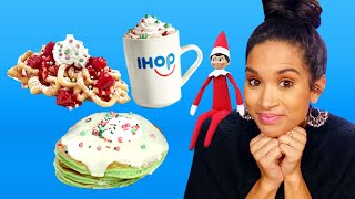 Eating Everything on IHOP's Elf on the Shelf Menu!! (Cheat Day)