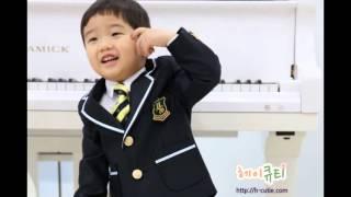 [헤이큐티] 고급 남아정장, 유아정장 - 곤색 배색자켓…