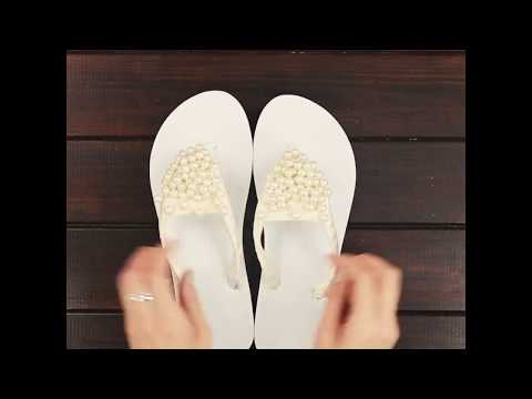 DIY Flip Flops Decorating – How To Decorate shoes for Summer