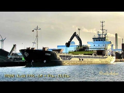 coaster TITRAN C6SE9 IMO 9100188 Emden cargo seaship merchant vessel KüMo Frachtschiff