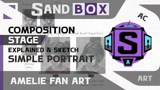 (Портрет Амели - стадия композиции) Creative Sandbox [RUS / eng] - Сессия 6