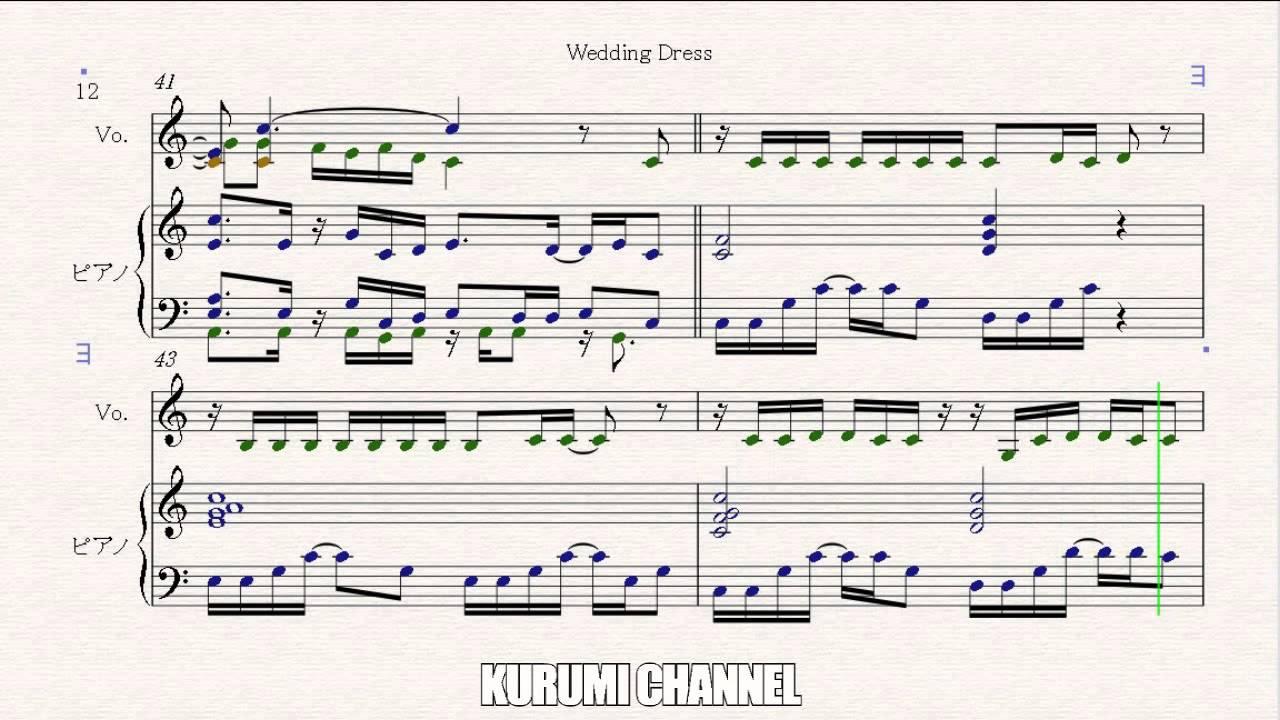 Wedding Dress 2-Piano sheet TVXQ/DBSK(東方神起) - YouTube