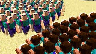 Huge Aswdfzdxc Vs  1,000 Herobrines!