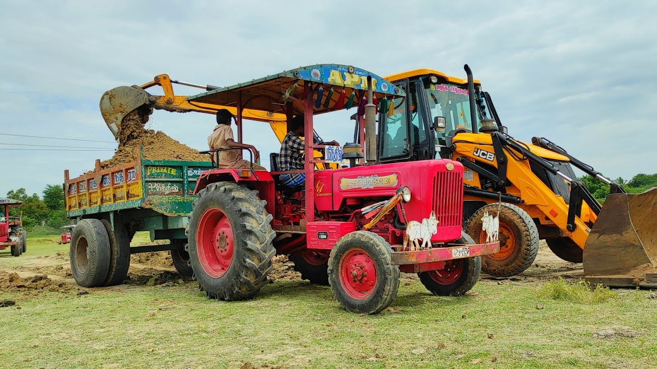 Mahindra 575 power plus tractor with fully loaded trolley pulling | John Deere tractor power | CFV |