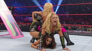 Natalya & Beth Phoenix vs. Lay-Cool - Table Match - WWE TLC 2010