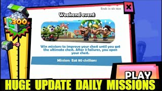 Zombie Tsunami: Huge Update Daily Mission Eat 80 Humans !