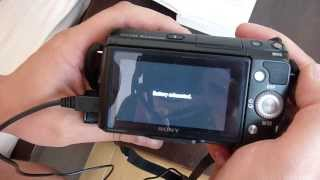 sony nex battery is not charging