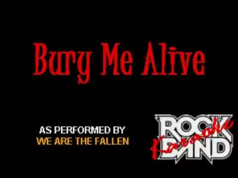 We Are The Fallen - Bury Me Alive (HD) (Original Karaoke)